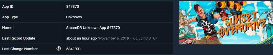 Sunset Overdrive'ın, Steam veri tabanı güncellendi