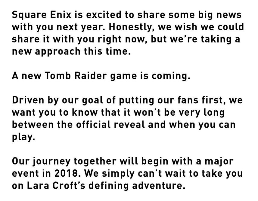 Yeni Tomb Raider oyunu duyuruldu