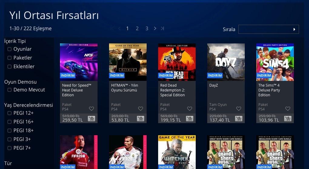 PlayStation Store Yıl Ortası Fırsatları başladı