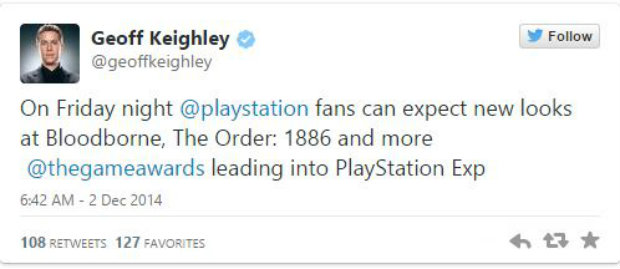 The Game Awards, Sony'nin gövde gösterisine sahne olacak