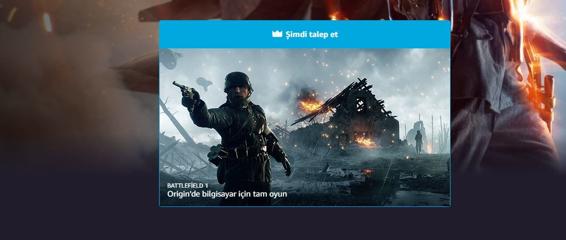 Battlefield 1 is free to Amazon Prime subscribers