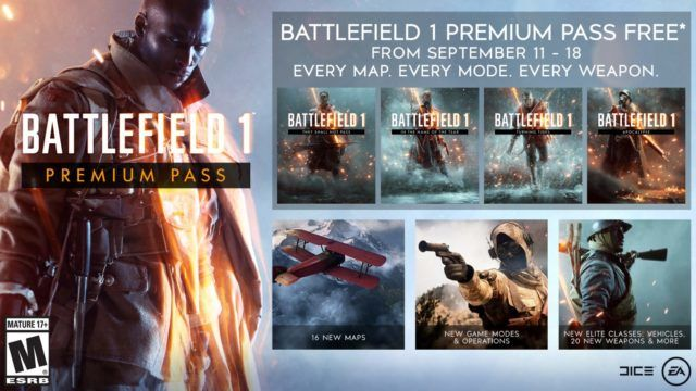 Battlefield 1'in Premium Pass paketi tamamen bedava oluyor