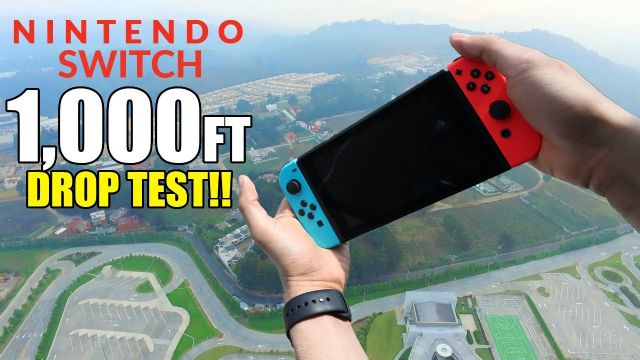 Nintendo Switch'i 300 metreden aşağı attılar