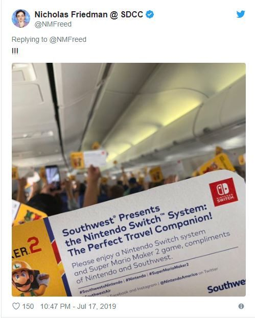 Bir uçak dolusu yolcuya bedava Nintendo Switch verdiler