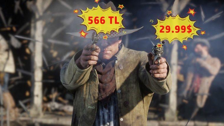 Yurt dışında 185TL olan Red Dead Redemption 2, ülkemizde 566TL
