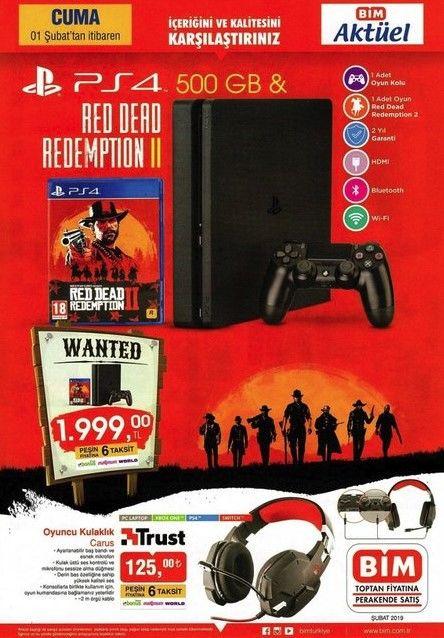 BİM'de Red Dead Redemption 2 ve PlayStation 4 satılacak