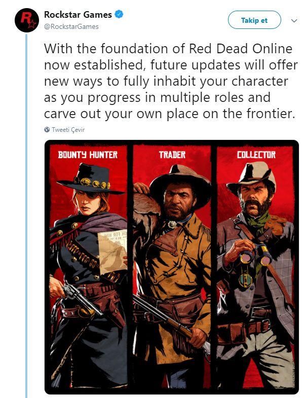 Rockstar Games, Red Dead Redemption 2'ye yine içerik sözü verdi