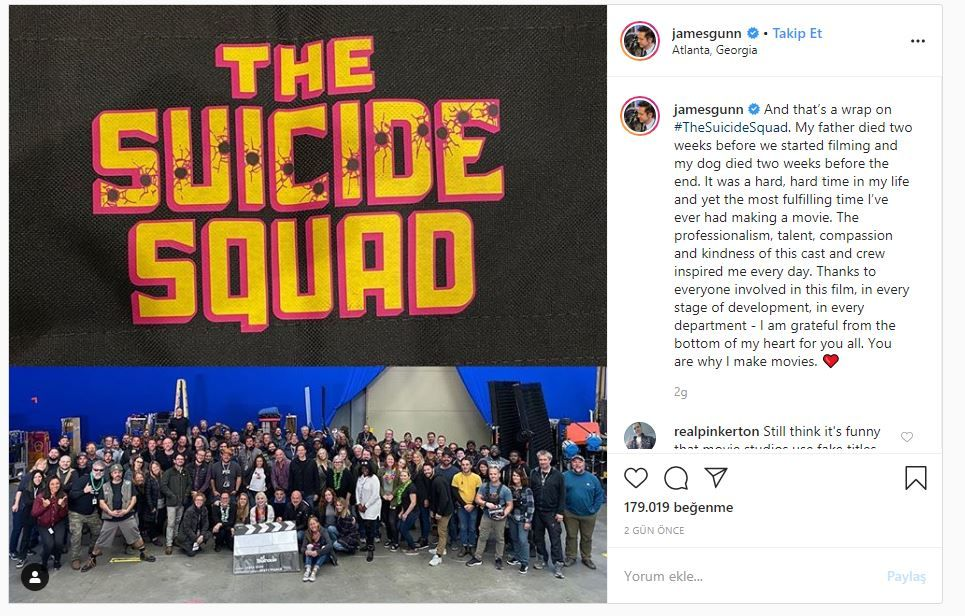 The Suicide Squad filminin çekimleri tamamlandı