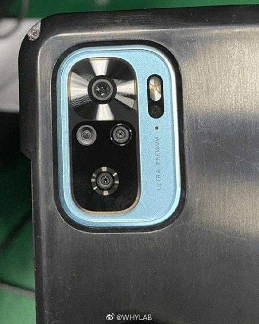 Redmi Note 10 Pro's design surfaced