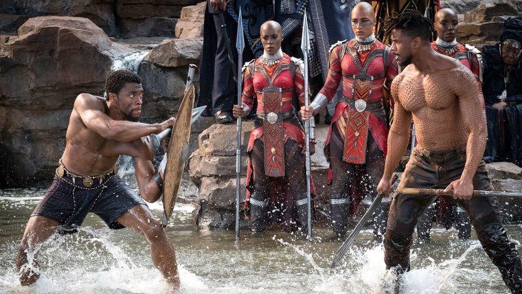 Black Panther ve Killmonger dövüşü internette yayınlandı