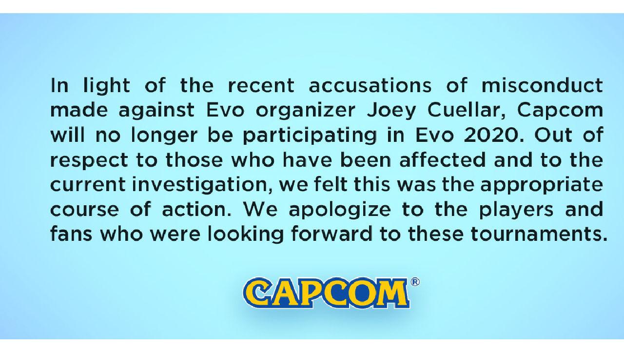 EVO 2020 Online cinsel suistimal iddiaları yüzünden iptal edildi