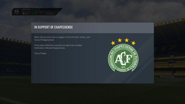 FIFA 17'den Chapecoense için anlamlı hareket