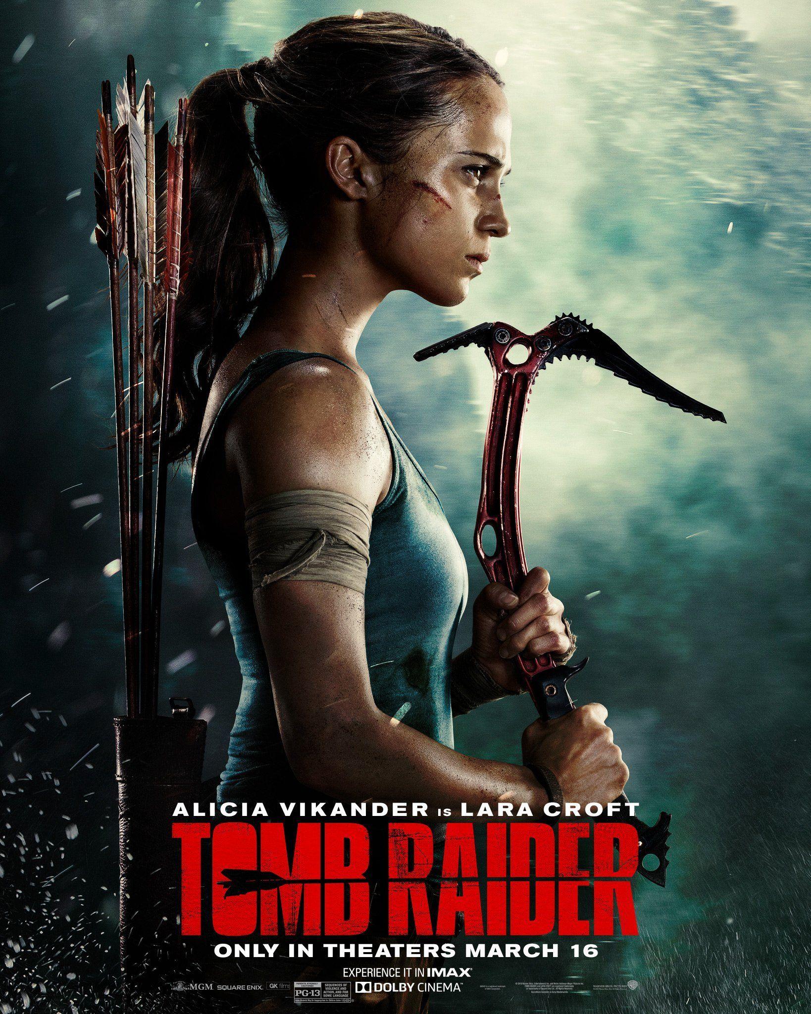 Tomb Raider film posterinde buz çekicine de yer verilmiş