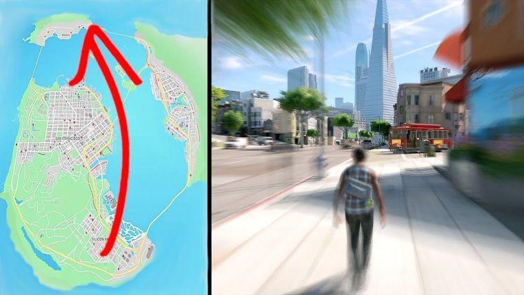 Watch Dogs 2 haritasını bir baştan bir başa yürüyerek dolaşmak
