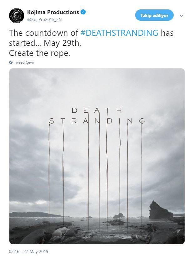 Kojima Productions, Death Stranding için geri sayımı başlattı