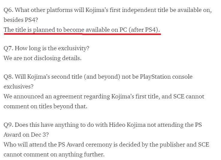 Sony, Death Stranding'in PC'ye geleceğini dört sene önce açıklamış