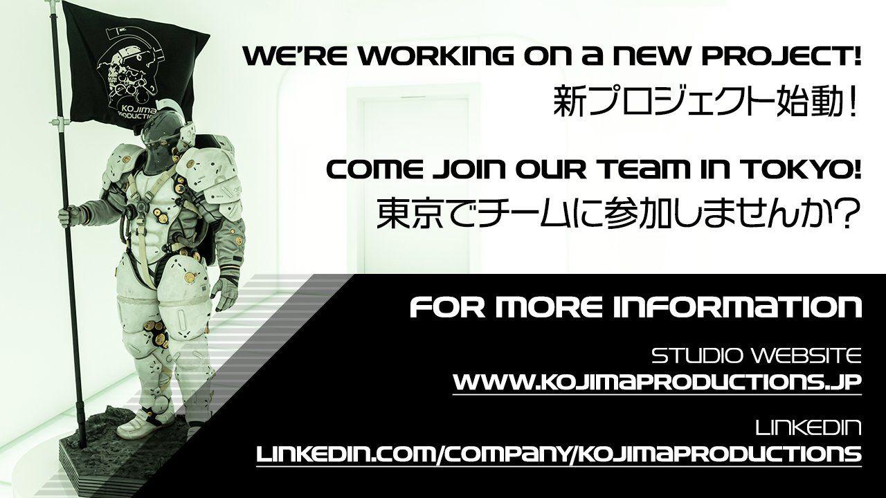 Kojima'nın yeni bir oyun projesi üzerinde çalıştığı açıklandı
