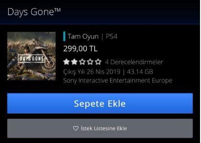 Days Gone'ın Türkiye fiyatı düştü!