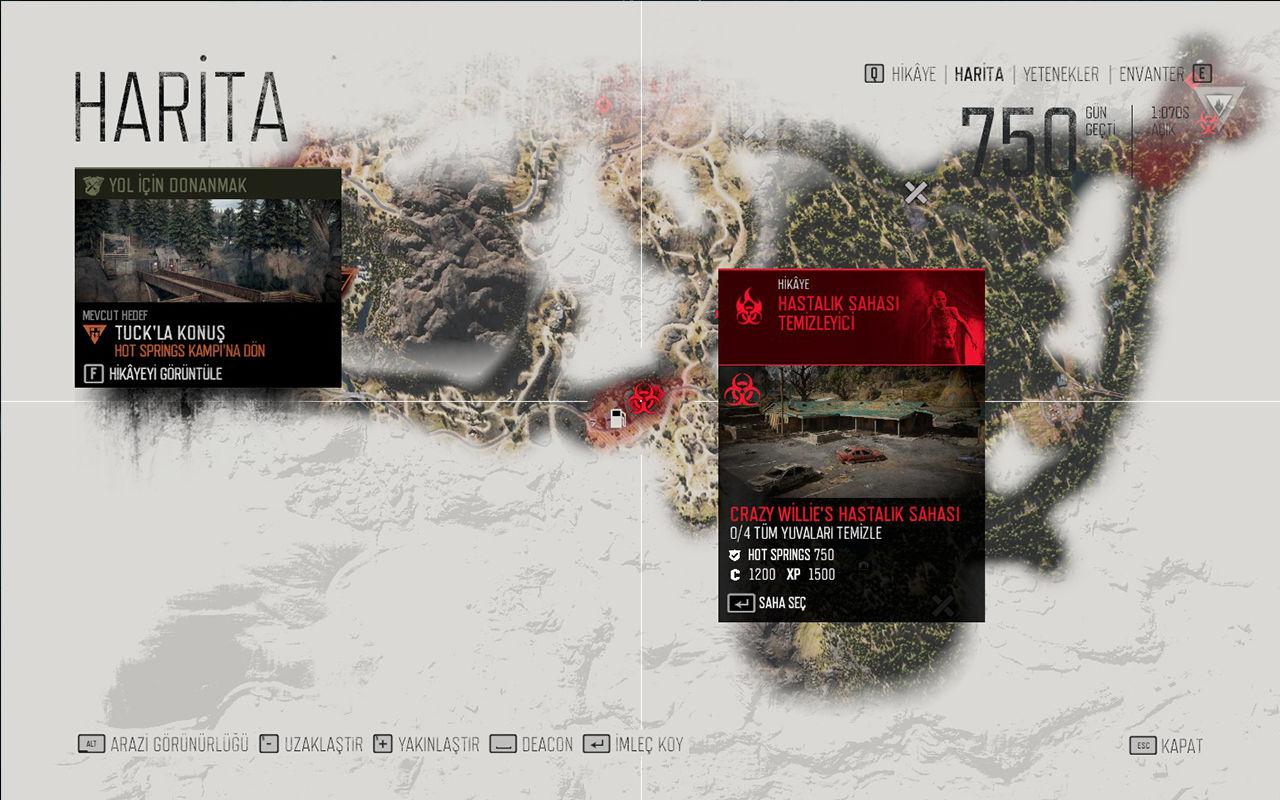 Oyunun haritasına ait bir ekran görüntüsü