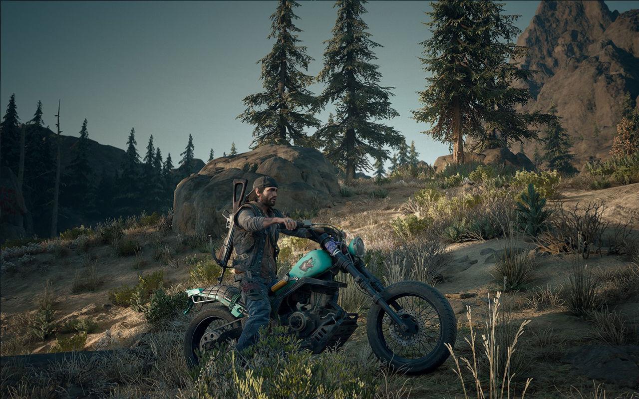 Days Gone'daki motorun göründüğü bir ekran görüntüsü