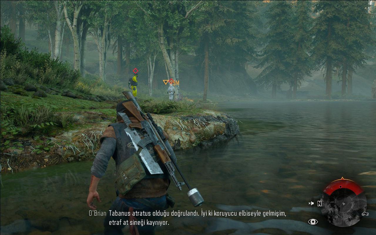 Days Gone PC sürümünde bir görevin ekran görüntüsü