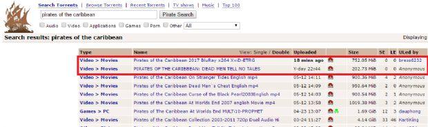 Karayip Korsanları 5, internete düştü!