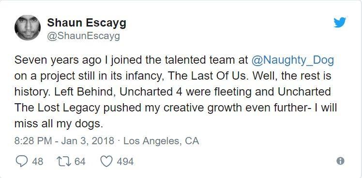 Naughty Dog'dan üzücü ayrılık
