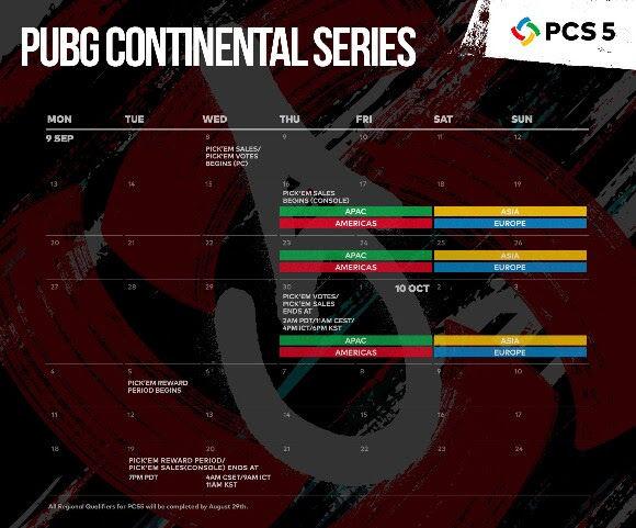 PUBG Continental Series 5 için 1.000.000$ ödül havuzu duyuruldu