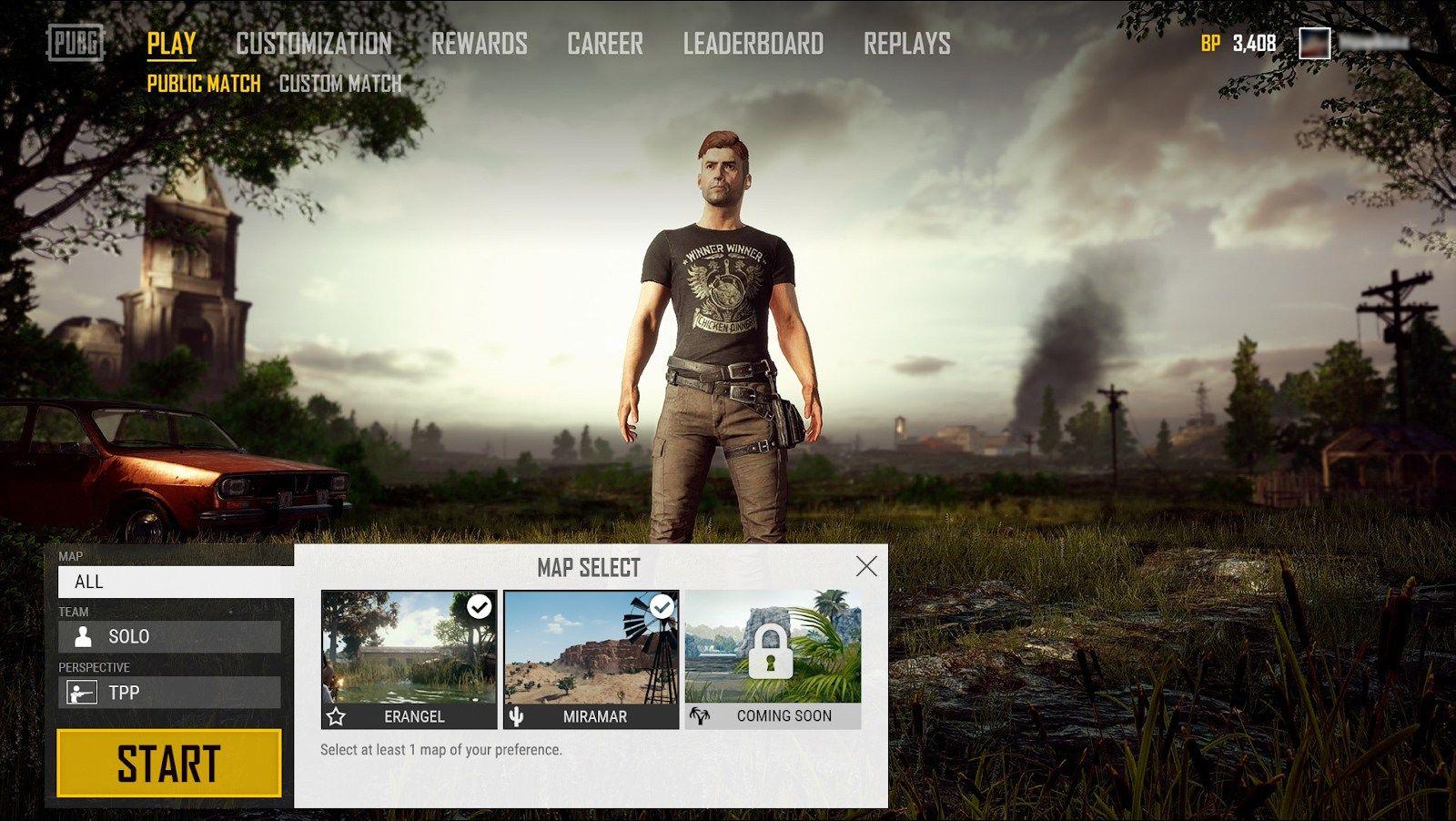 Playerunknown's Battlegrounds'a harita seçme özelliği geliyor