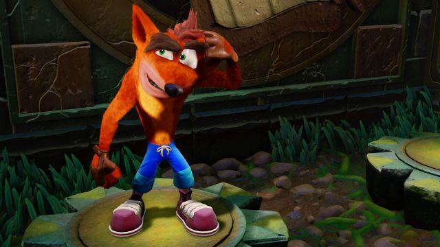 Crash Bandicoot N. Sane Trilogy'den eskilere gönderme