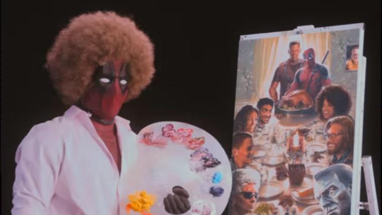 Deadpool bu sefer de Bob Ross'a özendi