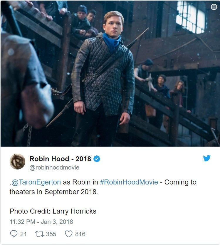 Yeni Robin Hood filmi için iki yeni görsel yayınlandı