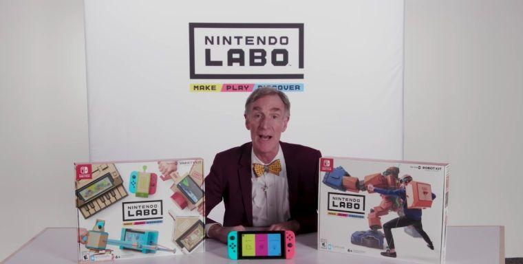 Uzman fizikçi ve bilim adamı Bill Nye, Labo'yu oyunculara tanıttı
