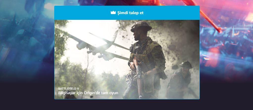 Battlefield 5 Prime Gaming abonelerine özel ücretsiz oldu
