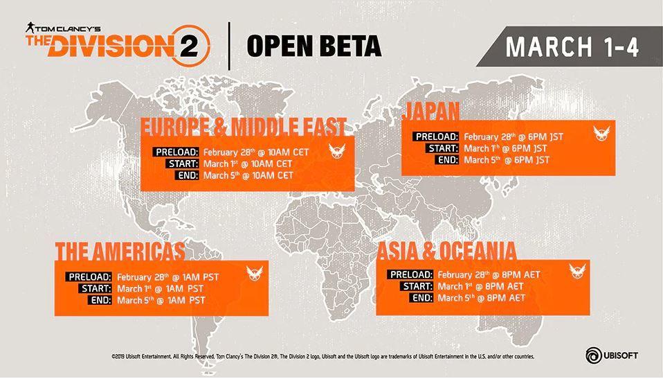 The Division 2 açık beta ön yükleme saatleri belli oldu