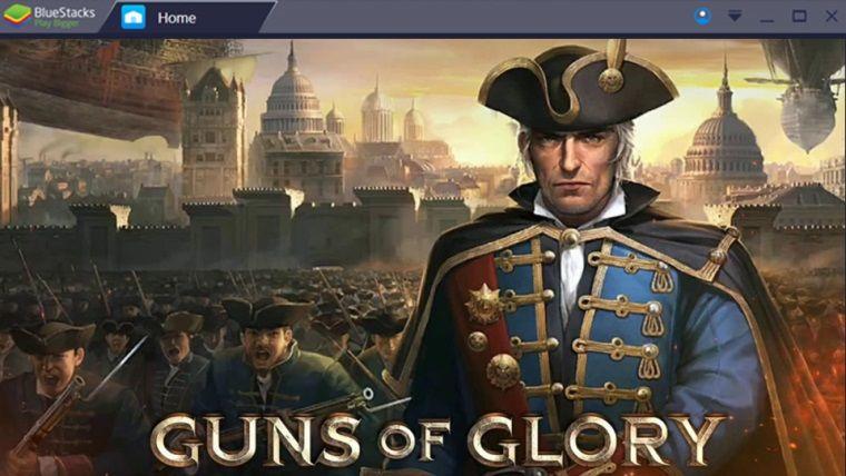 Bluestacks programı ile bilgisayarda Guns of Glory oynuyoruz
