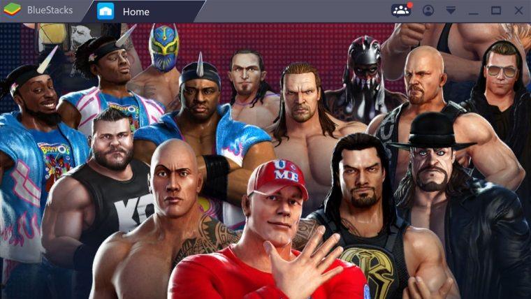 Bluestacks programı ile bilgisayarda WWE Champions oynadık!