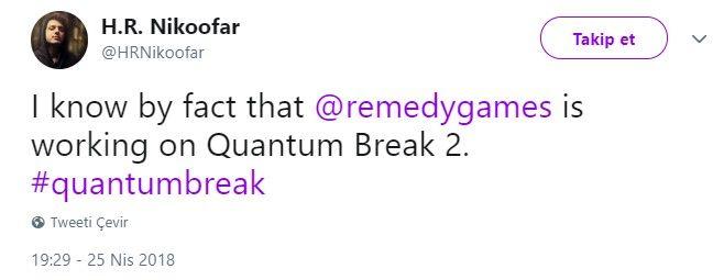 Remedy ekibi, Quantum Break 2 üzerinde çalışıyor olabilir