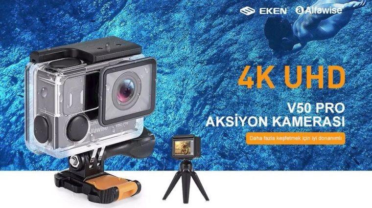 Alfawise V50 Pro 4K UHD Aksiyon Kamerası