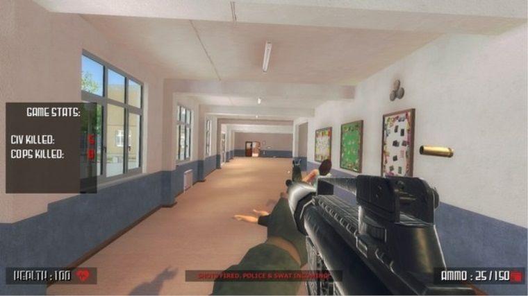 Silahlı okul basma oyunu şimdiden tepki çekmeye başladı!
