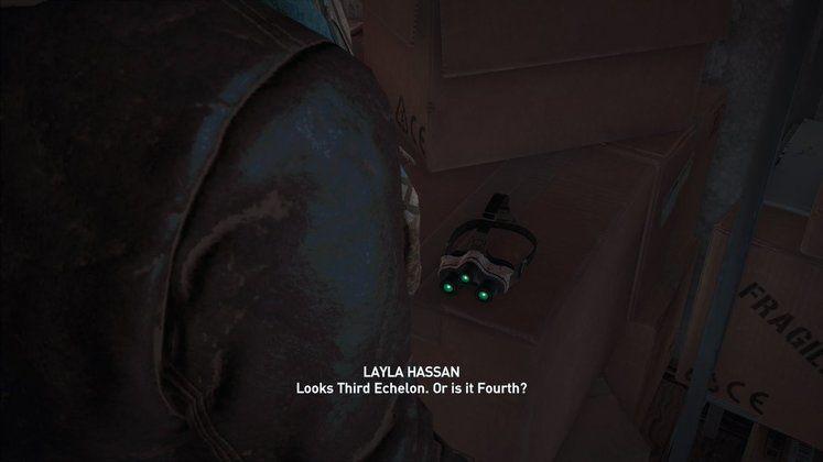 Assassin's Creed Odyssey'de, Splinter Cell izleri