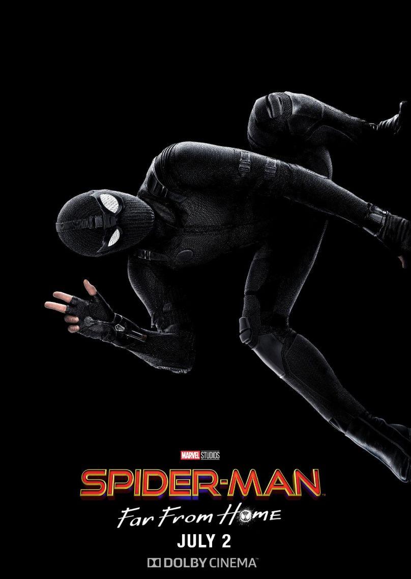 Spider Man'in siyah kostümünü gösteren yeni posterler yayınlandı