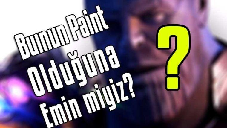 Paint'te çizilen Thanos resmi, Marvel hayranlarının dikkatini çekti