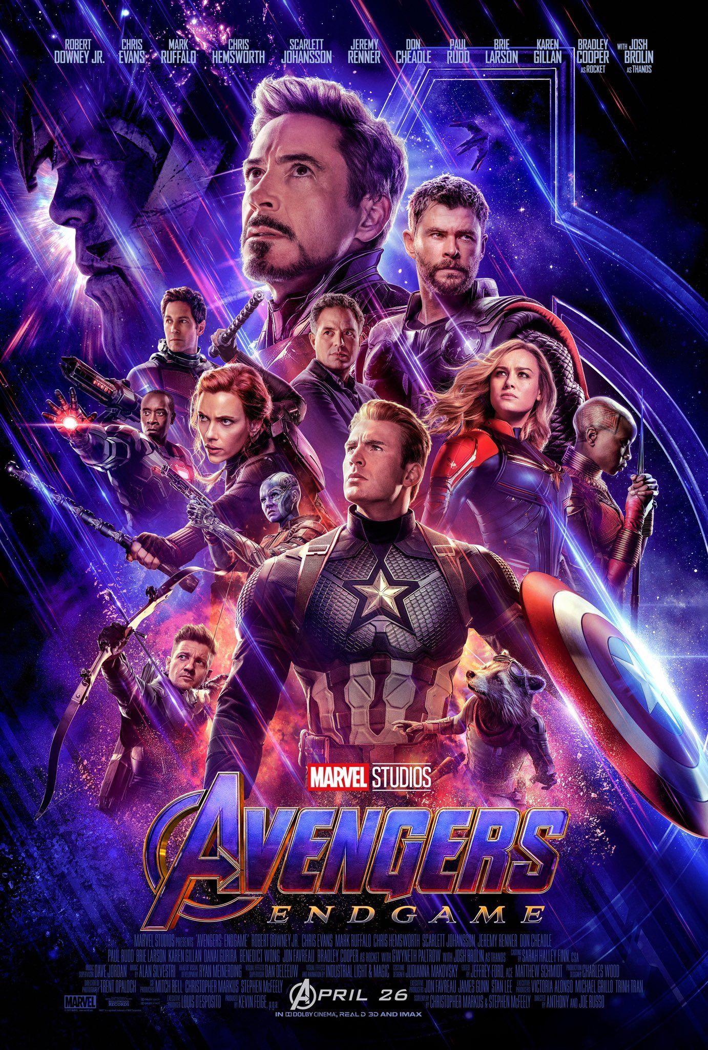 Avengers Endgame filminin posteri yayınlandı