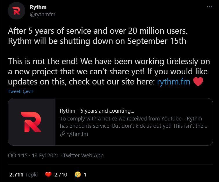 Discord Rythm bot