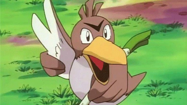 Pırasa taşıyan Pokemon Farfetch'd, en sonunda evrim geçirdi
