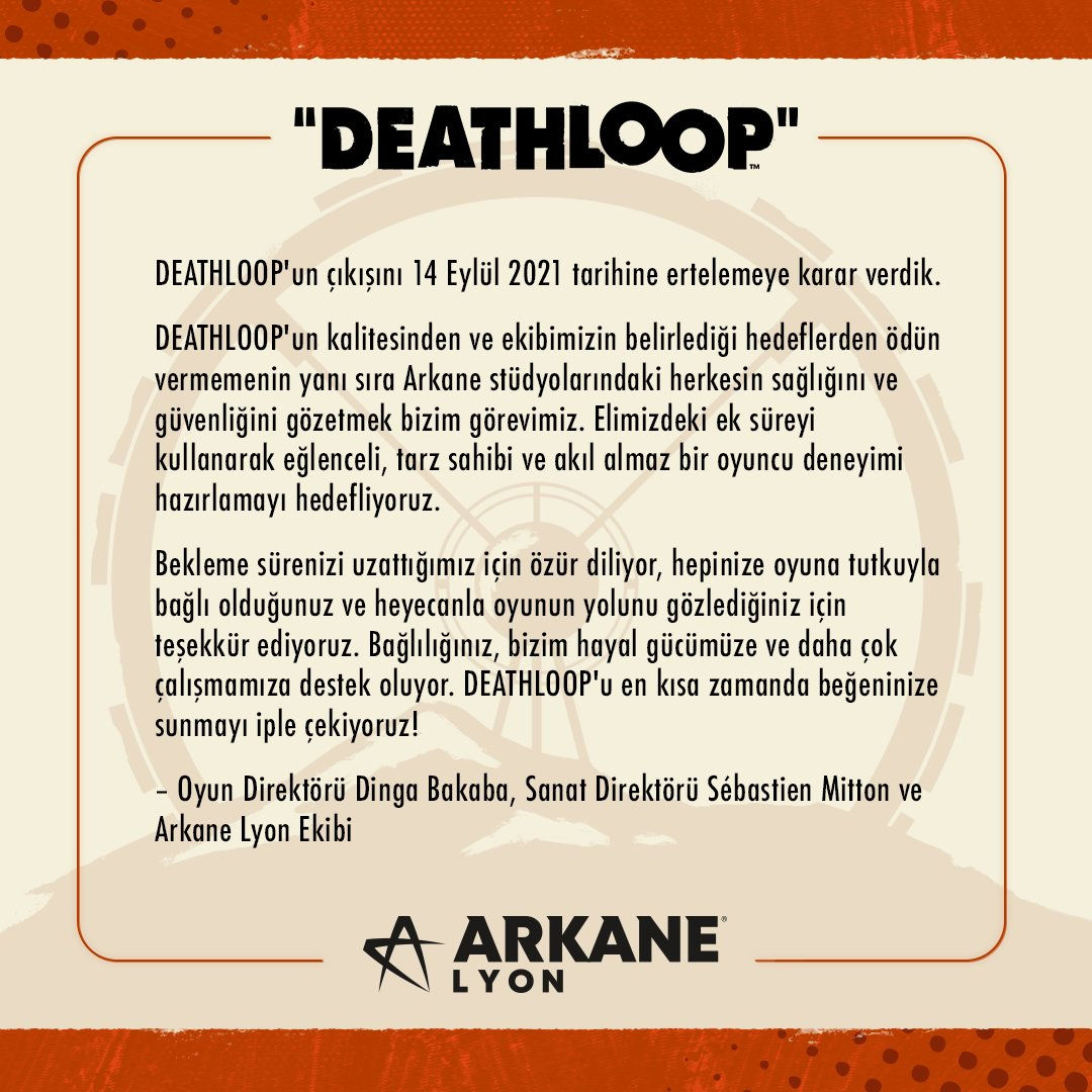 Deathloop çıkış tarihi ertelendi
