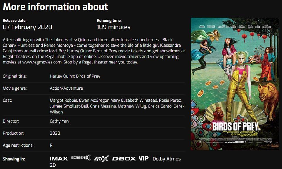 Birds of Prey filmiden kötü başlangıç sonrası yeni isim