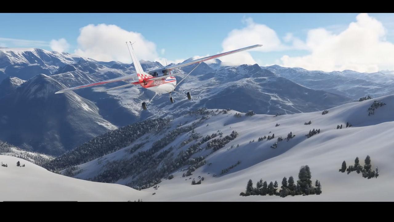 Flight Simulator, sistemine eş zamanlı kar yağışlarını ekledi