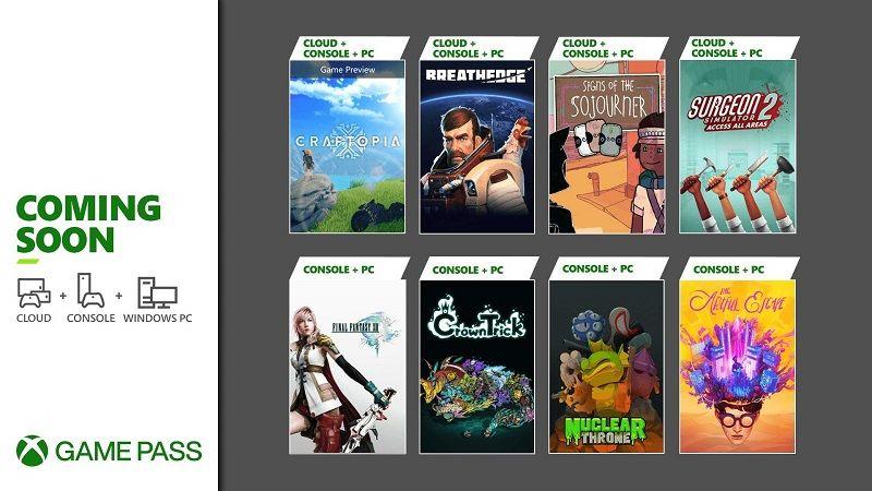 Xbox Game Pass'e sekiz yeni oyun ekleniyor